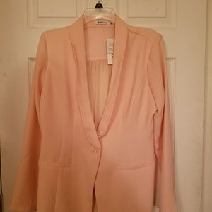 Light Pink Blazer with sheer back detail